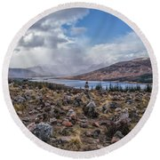 Cairns Of Loch Loyne Round Beach Towel