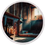 Cairo, Egypt -  Interior Of A Room In The Famous Bayt Al Suhaymi Located At Al Muizz Street In Cairo Round Beach Towel