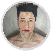 Caked Up Make Up Round Beach Towel