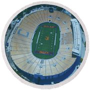 Cal Memorial Stadium Round Beach Towel