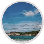 Cala Galdana Bay Menorca Round Beach Towel