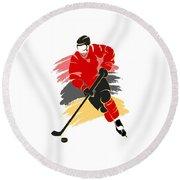 Calgary Flames Player Shirt Round Beach Towel