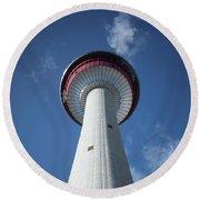 Calgary Tower Round Beach Towel