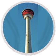 Calgary Tower Round Beach Towel