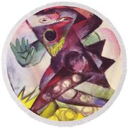 Caliban From Shakespeare The Tempest 1914 Round Beach Towel
