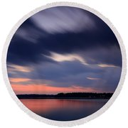 Calibogue Sound After Dark Round Beach Towel
