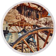 Calico Ghost Town Mine Round Beach Towel