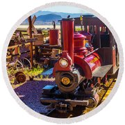 Calico Ghost Town Train Round Beach Towel