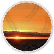 Calif Sunset March 2011 Round Beach Towel