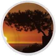 California, Big Sur Coast Round Beach Towel
