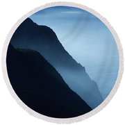 California Big Sur Coast Round Beach Towel