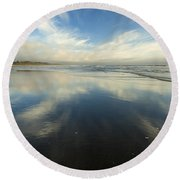 California Cirrus Explosion Round Beach Towel