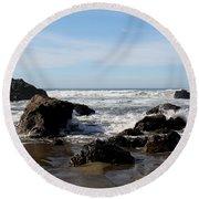 California Coast 11 Round Beach Towel