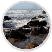 California Coast 12 Round Beach Towel