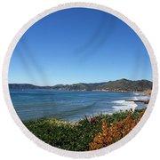 California Coast Line - Pismo Beach Round Beach Towel