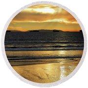 California Gold Round Beach Towel