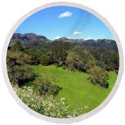California Highlands Round Beach Towel