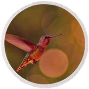 California Hummingbird Round Beach Towel