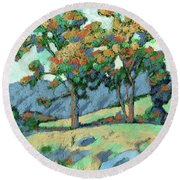 California Landscape Round Beach Towel