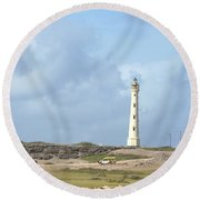 California Lighthouse Round Beach Towel