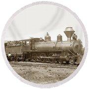 California Northwestern Railroad #30 4-6-0 Baldwin Locomotive Works Circa 1905 Round Beach Towel