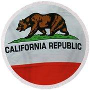 California Republic Flag Round Beach Towel