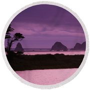 California, Sonoma Coast Round Beach Towel