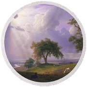 California Spring, C. 1875 Round Beach Towel