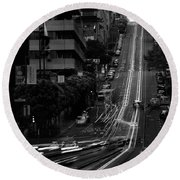 California St San Francisco Round Beach Towel