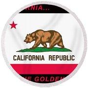 California State Flag Round Beach Towel