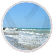 California Waves Round Beach Towel