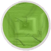 Call Me Misty Green Round Beach Towel
