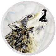 Call Of The Wild Round Beach Towel