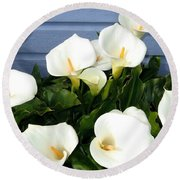 Calla Lilies- Oregon Round Beach Towel