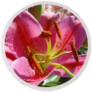 Calla Lily Art Prints Pink Lilies Flowers Baslee Troutman Round Beach Towel