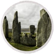 Callanish Stones Round Beach Towel