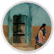 Calle Hermanos Dominquez Round Beach Towel