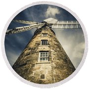 Callington Mill In Oatlands Tasmania Round Beach Towel
