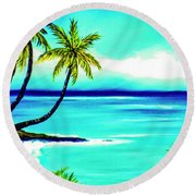 Calm Bay #53 Round Beach Towel