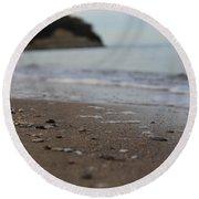 Calm Beach Sand Round Beach Towel