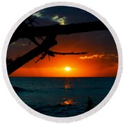 Calm Between The Storms Round Beach Towel