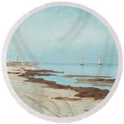 Calm Evening Round Beach Towel