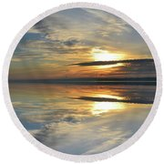 Calm Morning Two  Round Beach Towel