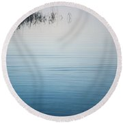 Calm Ripples On The Lake Round Beach Towel