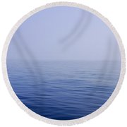 Calm Sea Round Beach Towel
