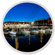 Calm Waters V2 Round Beach Towel