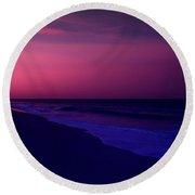 Calming Conclusion - Jersey Shore Round Beach Towel