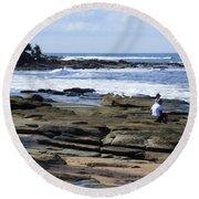 Caloundra Coast. #1 Round Beach Towel