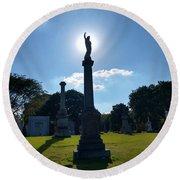 Calvary Catholic Cemetery Round Beach Towel