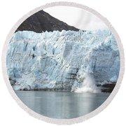 Calving Glacier Round Beach Towel